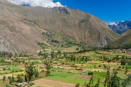 sacred valley of the incas: Sacred Valley of Incas near Ollantaytambo, Peru