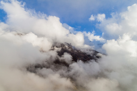 snow covered mountain: Snow covered mountain near Abra Malaga pass, Peru