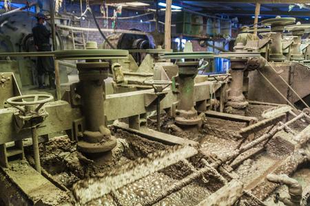 ore: Ore processing facility in Potosi, Bolivia.