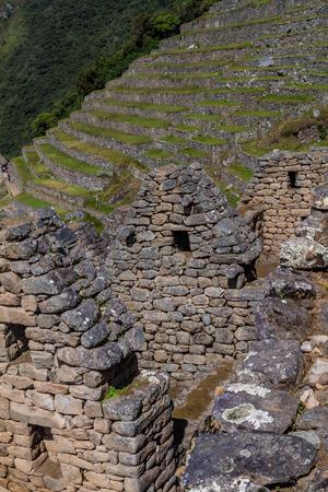 machu picchu: Machu Picchu ruins, Peru Stock Photo