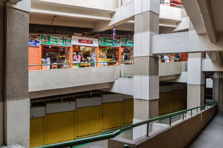 selling service: LA PAZ, BOLIVIA - APRIL 23, 2015: Interior of Mercado Lanza market in La Paz, Bolivia. Editorial