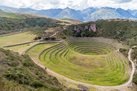 climatic: Round agricultural terraces of Incas at Moray, Sacred Valley, Peru