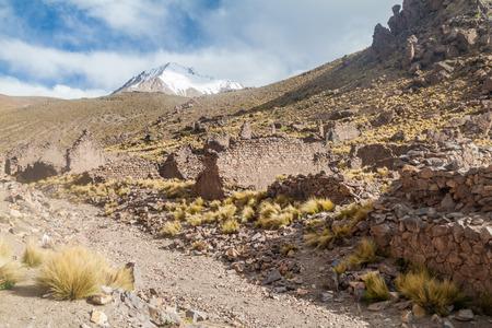 Rovine di una ex città mineraria Pueblo Fantasma, Bolivia sud-occidentale