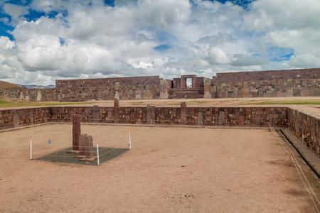 Ruins of Tiwanaku, Bolivia. Tiwanaku is an ancient city near the Lake Titicaca.