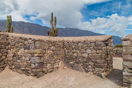 fortification: Ruins of pre-Columbian fortification Pucara near Tilcara village in Quebrada de Humahuaca valley, Argentina Stock Photo