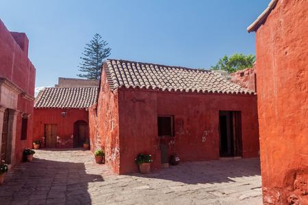 catholic nuns: Alleys in Santa Catalina monastery in Arequipa, Peru