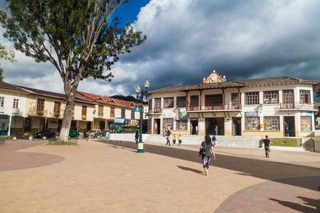 LOJA, ECUADOR - JUNE 15, 2015: Plaza de la Independencia square in Loja, Ecuador