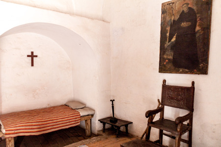 catholic nuns: AREQUIPA, PERU - MAY 30, 2015: Room in Santa Catalina monastery in Arequipa, Peru