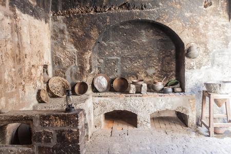 AREQUIPA, PERU - MAY 30, 2015: Kitchen in Santa Catalina monastery in Arequipa, Peru Redakční