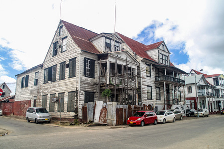 affairs: PARAMARIBO, SURINAME - AUGUST 5, 2015: Building of Ministry of Social Affairs and Housing in Paramaribo, capital of Suriname. Editorial