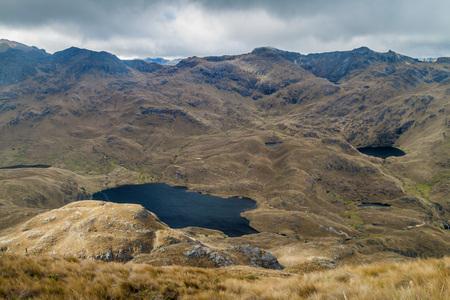 toreador: Toreador and Cascada lakes in National Park Cajas, Ecuador