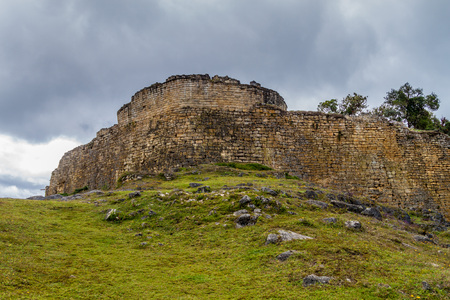 Kuelap, ruined citadel city of Chachapoyas cloud forest culture in mountains of northern Peru.