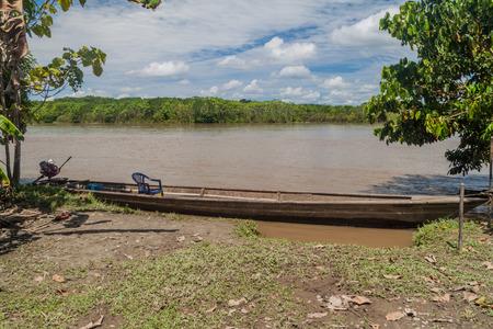 dugout: Dugout canoe called Peke Peke in peruvian jungle