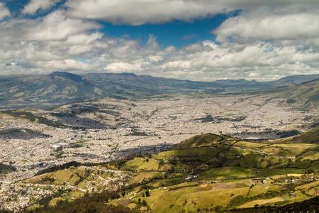 Aerial view of Quito, capital of Ecuador