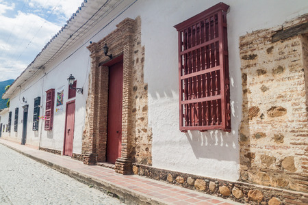 Old colonial houses in Santa Fe de Antioquia, Colombia