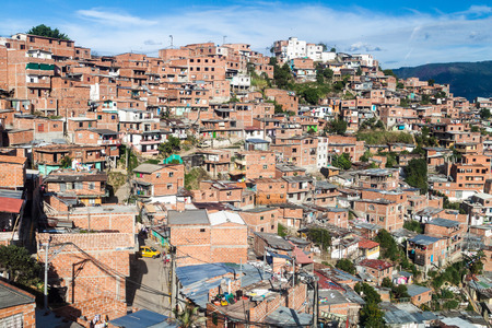 displace: Poor neighborhood in Medellin, Colombia