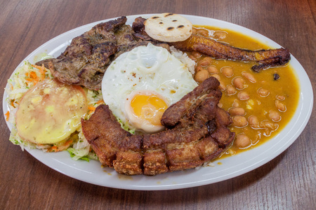 colombian food: Bandeja Paisa. Typical meal from Colombia.