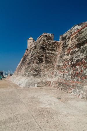 barajas: Castillo de San Felipe de Barajas castle in Cartagena de Indias, Colombia. Stock Photo
