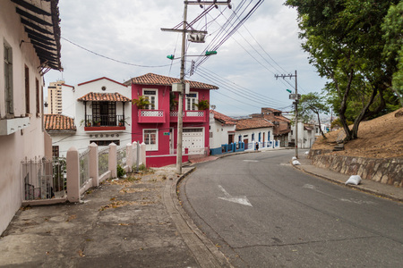 CALI, COLOMBIA - SEPTEMBER 9, 2015: Street in San Antonio neighborhood of Cali. Editorial