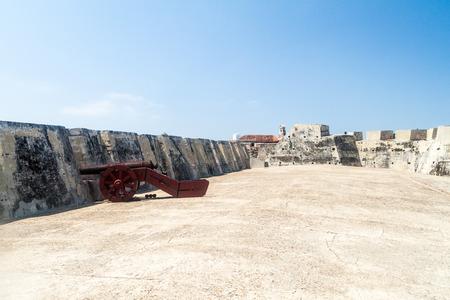 barajas: Cannon at Castillo de San Felipe de Barajas castle in Cartagena de Indias, Colombia