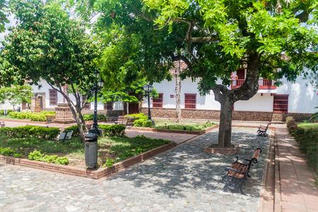 antioquia: Small park in Santa Fe de Antioquia, Colombia. Stock Photo