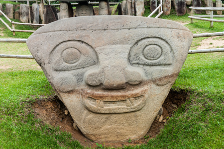 san agustin: Ancient statues in archeological park in San Agustin, Colombia Stock Photo