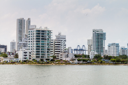 Skyscrapers in the Boca Grande neighborhood of Cartagena, Colombia