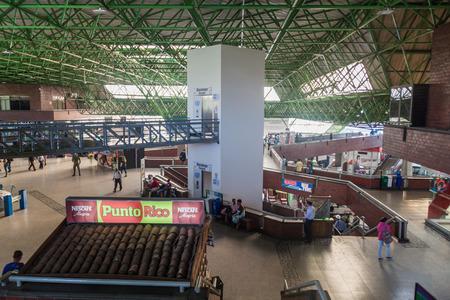 medellin: MEDELLIN, COLOMBIA - SEPTEMBER 1: Interior of Northern bus terminal of Medellin.