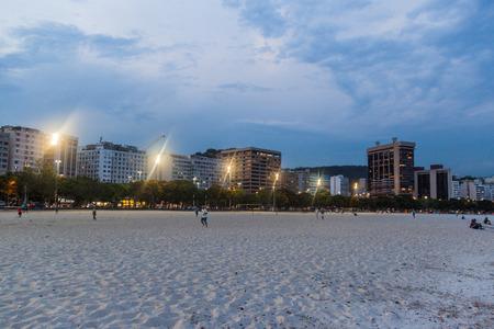 rio de janeiro: RIO DE JANEIRO, BRAZIL - JANUARY 27, 2015: Botafogo beach in Rio de Janeiro