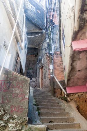 underprivileged: Houses in favela Rocinha in Rio de Janeiro, Brazil Stock Photo