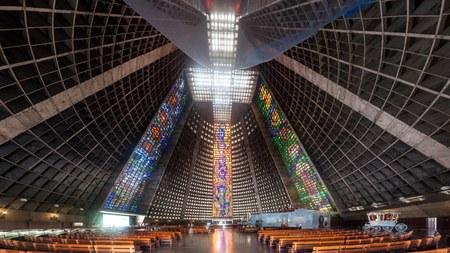 rio de janeiro: RIO DE JANEIRO, BRAZIL - JANUARY 28, 2015: Interior of Metropolitan cathedral in Rio de Janeiro, Brazil