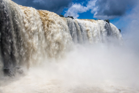 Iguacu (Iguazu) falls on a border of Brazil and Argentina Stock Photo