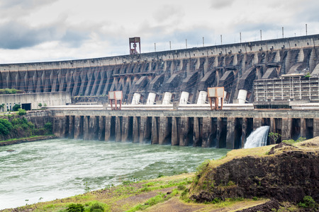 Itaipu dam on river Parana on the border of Brazil and Paraguay Banco de Imagens