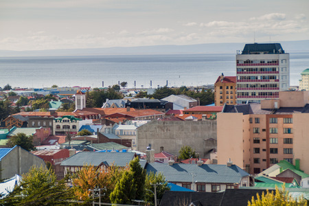 Aerial view of Punta Arenas, Chile
