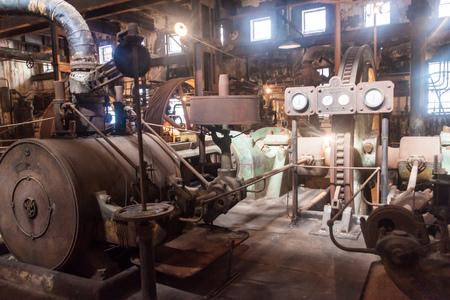 FRAY BENTOS, URUGUAY - FEB 18, 2015: Interior of a former meat factory, now Museum of Industrial Revolution. Editorial