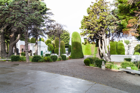punta arenas: PUNTA ARENAS, CHILE - MARCH 3, 2015: Tombs and graves at a cemetery in Punta Arenas, Chile.