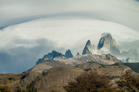 fitz: View of Fitz Roy mountain in National Park Los Glaciares, Argetina