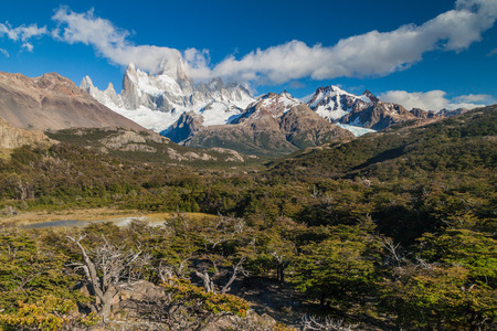 View of Fitz Roy mountain in National Park Los Glaciares, Argetina