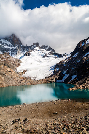 Fitz Roy mountain and Laguna de los Tres lake, National Park Los Glaciares, Patagonia, Argentina