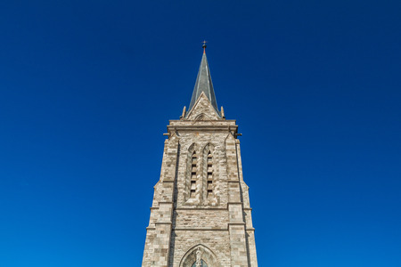 Tower of a cathedral in Bariloche, Argentina
