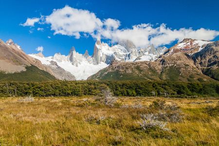 Fitz Roy mountain in National Park Los Glaciares, Patagonia, Argentina Stock Photo