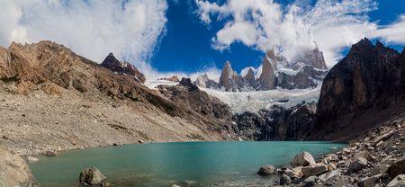 los glaciares: Laguna Sucia lake and Fitz Roy mountain in National Park Los Glaciares, Argentina