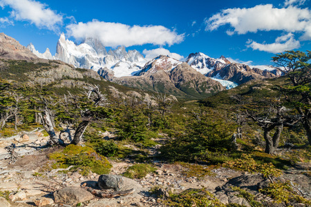 Fitz Roy mountain in National Park Los Glaciares, Patagonia, Argentina Stock Photo