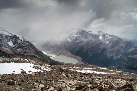 lake argentina: Laguna Torre lake in National Park Los Glaciares, Patagonia, Argentina Stock Photo
