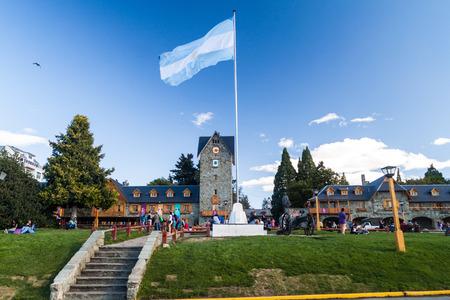civic center: SAN CARLOS DE BARILOCHE, ARGENTINA - MARCH 18, 2015: Civic center on a main Square in Bariloche, Argentina.