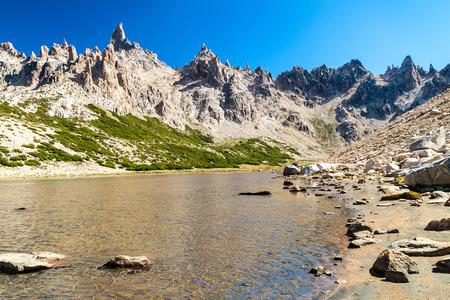 inaccessible: Laguna Toncek lake near Bariloche, Argentina Stock Photo