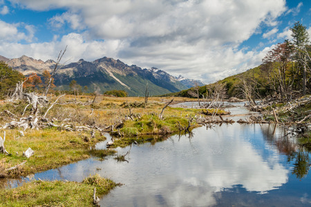 traquility: Mountains at Tierra del Fuego, Argentina