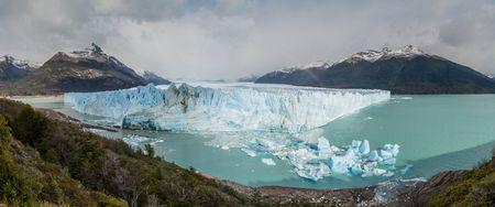 calafate: Panorama of Perito Moreno glacier in Patagonia, Argentina Stock Photo