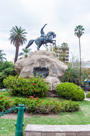 Monument to the Army of the Andes  at the General San Martin square in Mendoza, Argentina