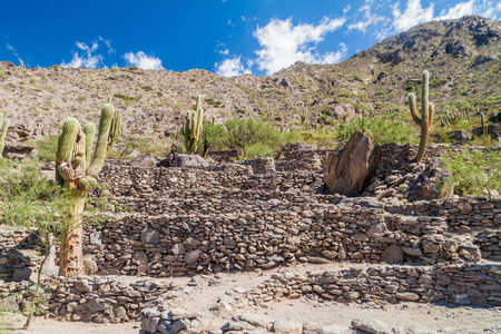 Ruins of pre-Inca city Quilmes, Argentina Stock Photo